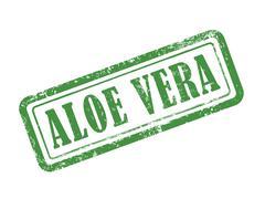 Stamp aloe vera in green Stock Illustration