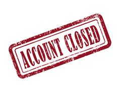 Stock Illustration of stamp account closed in red