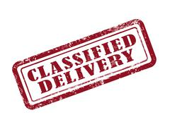 Stamp classified delivery Stock Illustration