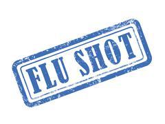 Stamp flu shot in blue Piirros