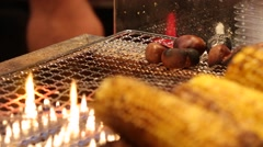 Corn and Chestnuts Stock Footage