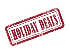 Stock Illustration of stamp holiday deals in red