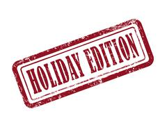 Stock Illustration of stamp holiday edition in red