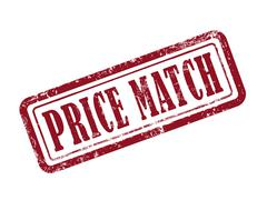 Stock Illustration of stamp price match in red