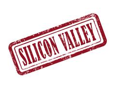 Stamp silicon valley in red Piirros