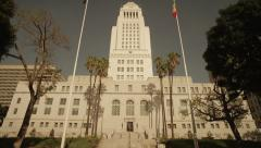 Los Angeles City Hall Tilt Up 1 Stock Footage