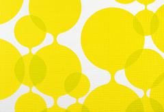 fabric texture yellow and white background, cloth pattern - stock photo