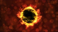Abstract Rotating Sphere Animation - Loop Fiery Red Stock Footage