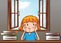 Studying - stock illustration