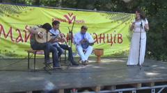 The Crimean Tatar music, ethnics Stock Footage