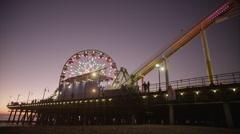Beach Pier Sunset Timelapse 2 Stock Footage