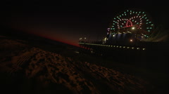 Beach Pier Night 1 Stock Footage