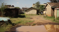 Poor rural African office shacks, Kenya, Africa Stock Footage