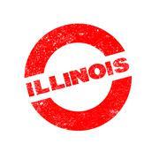 Rubber Ink Stamp Illinois - stock illustration