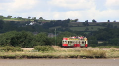 Seaton Tramway in Devon Stock Footage