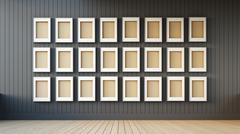 frame modern and black wall - stock illustration