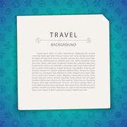 Colorful Travel Background with Copy Space Stock Illustration