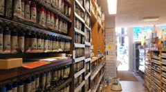 Art supplies store Stock Footage