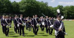 Netherlands band fanfare marching - stock footage