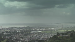 City scape dramatic moody sky 02 - stock footage