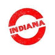 Rubber Ink Stamp Indiana - stock illustration