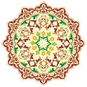 artistic ottoman pattern series ninety six - stock illustration