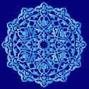 Stock Illustration of blue artistic ottoman pattern series ninety one
