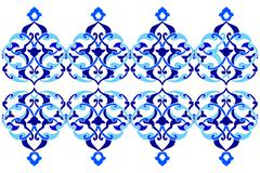 Stock Illustration of designed with shades of blue ottoman pattern series three version