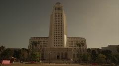 Los Angeles City Hall 1 Stock Footage