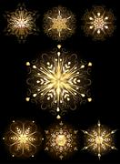 jewelry snowflakes - stock illustration