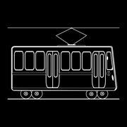 Tram city public municipal passenger transport Stock Illustration