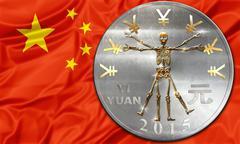 China and yuan crisis Stock Illustration