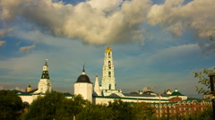 Russian cathedral, religion, Christianity church, Sergiev posad Stock Footage