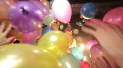 Balloons burst Stock Footage