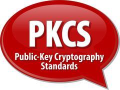 PKCS acronym definition speech bubble illustration Stock Illustration