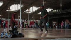 Break Dancer Time Lapse La Villette, Paris Stock Footage