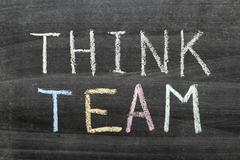 think team - stock photo