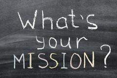 what is your mission - stock photo