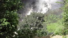 Thomson's Falls waterfalls, Kenya, Africa, medium shot, tilt up Stock Footage