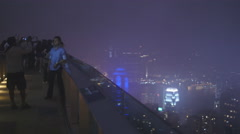 Camera flash on the Peak in Hong Kong 4K Stock Footage