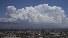 Magnificent Dynamic Bubbling Clouds Highlight Tucson Arizona City Time Lapse - stock footage