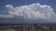 Stock Video Footage of Magnificent Dynamic Bubbling Clouds Highlight Tucson Arizona City Time Lapse