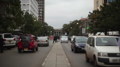 People and cars in Nairobi city center, Kenya, Africa Stock Footage