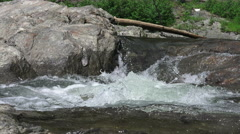 Close Up River Water Flowing Over Rocks And Stones 04 Stock Footage