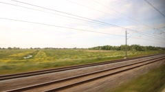 European railways, the fastest train Stock Footage