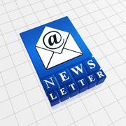 Newsletter concept Stock Illustration
