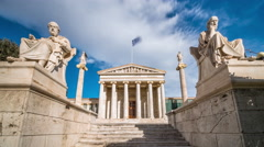 Academy of Athens - Athens, Greece Stock Footage