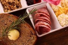 Full continental breakfast - stock photo