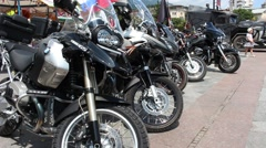 Motorcycles, Motorbikes, Motor Bicycles - stock footage