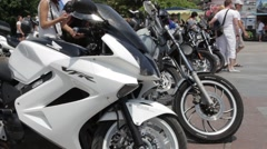Motorcycle, Motorbike, Motor Bicycle - stock footage